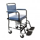 Chaise percée à roulette Bleu